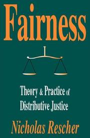Cover of: Fairness | Rescher, Nicholas.