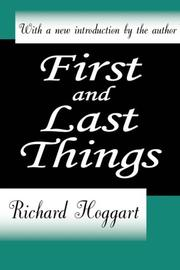Cover of: First and last things
