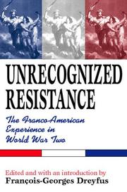 Cover of: Unrecognized resistance | Colloque sur la