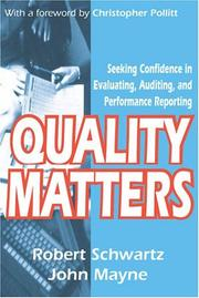 Cover of: Quality Matters | John Mayne