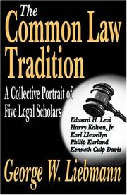 Cover of: The Common Law Tradition