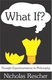 Cover of: What If? | Rescher, Nicholas.