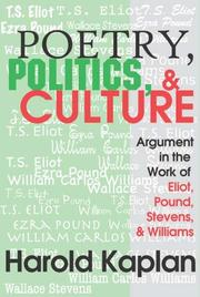 Poetry, politics, and culture by Harold Kaplan