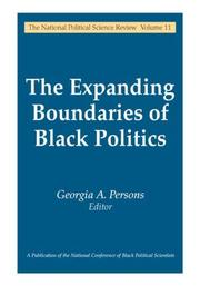 Cover of: The expanding boundaries of Black politics