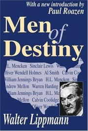 Cover of: Men of destiny