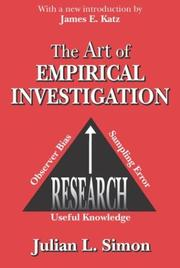 Cover of: The Art of Empirical Investigation