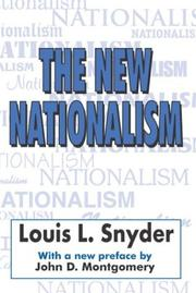 Cover of: The new nationalism