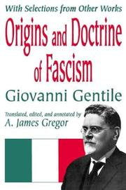 Cover of: Origins and Doctrine of Fascism: With Selections from Other Works