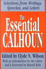 Cover of: The Essential Calhoun (Library of Conservative Thought)