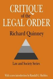 Cover of: Critique of legal order