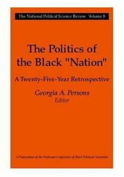 "Cover of: The politics of the Black ""nation"""