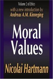 Cover of: Moral Values (Ethics, Vol. 2)