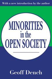 Cover of: Minorities in the open society