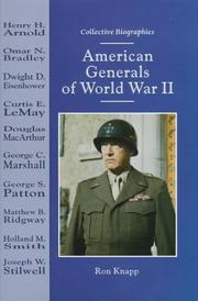 American generals of World War II by Ron Knapp