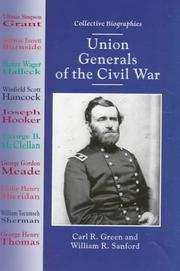 Cover of: Union generals of the Civil War