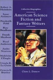 Cover of: American science fiction and fantasy writers | Claire L. Datnow