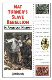 Cover of: Nat Turner's slave rebellion in American history