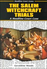 Cover of: The Salem witchcraft trials | Geraldine Woods