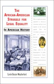 Cover of: The African-American struggle for legal equality in American history