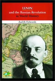 Cover of: Lenin and the Russian revolution in world history