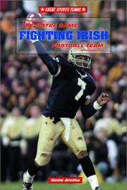 Cover of: The Notre Dame Fighting Irish football team