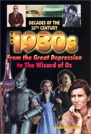 Cover of: The 1930s: from the Great Depression to the Wizard of Oz