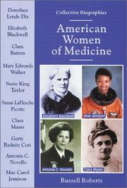 Cover of: American Women of Medicine (Collective Biographies) | Russell Roberts