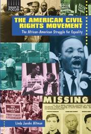 Cover of: The American civil rights movement: the African-American struggle for equality