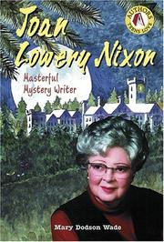 Cover of: Joan Lowery Nixon: mystery writer