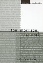 Cover of: Toni Morrison | Carl Plasa