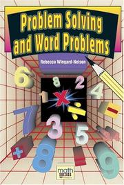 Cover of: Problem Solving and Word Problems (Math Success) |