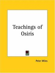 Cover of: Teachings of Osiris by Peter Miles