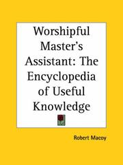 Cover of: Worshipful Master's Assistant by Robert MacOy