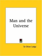 Cover of: Man and the Universe