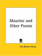 Cover of: Maurine and Other Poems