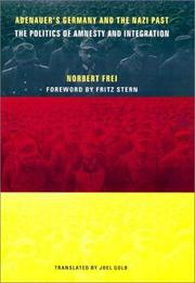 Cover of: Adenauer's Germany and the Nazi Past
