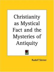Cover of: Christianity as mystical fact and the mysteries of antiquity