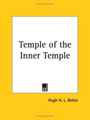Cover of: Temple of the Inner Temple