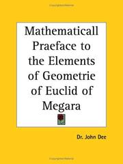 Cover of: Mathematicall Praeface to the Elements of Geometrie of Euclid of Megara