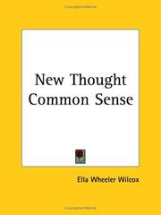 Cover of: New Thought Common Sense | Ella Wheeler Wilcox