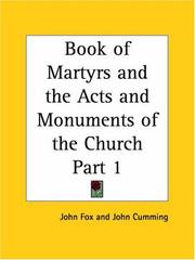 Cover of: Book of Martyrs and the Acts and Monuments of the Church, Part 1