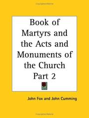 Cover of: Book of Martyrs and the Acts and Monuments of the Church, Part 2