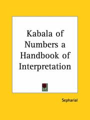 Cover of: Kabala of Numbers a Handbook of Interpretation