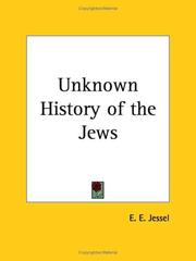 Cover of: Unknown History of the Jews | E. E. Jessel