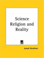 Science, religion and reality by Joseph Needham