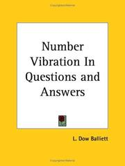 Cover of: Number Vibration In Questions and Answers