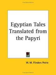 Cover of: Egyptian Tales Translated from the Papyri