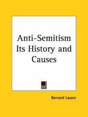 Cover of: Antisemitism, its history and causes