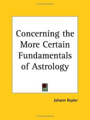 Cover of: Concerning the More Certain Fundamentals of Astrology