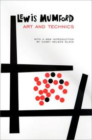 Cover of: Art and technics
